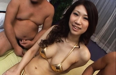 Fuuka Takanashi Nice Japanese girl is fucked by two guys