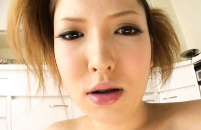 Riana Natsukawa Pretty Asian model gets cum on her face
