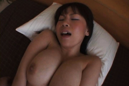 Horny Asian model has huge tits made to play with