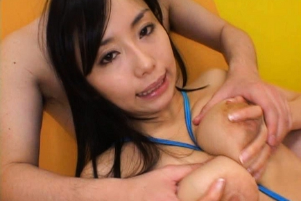 Hina Hinami Lovely Asian babe shows off her big tits