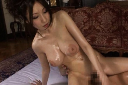Sexy Japanese girl Julia is with a few amateur men stroking their cocks