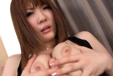 Momoka Nishina Asian model has super sized tits