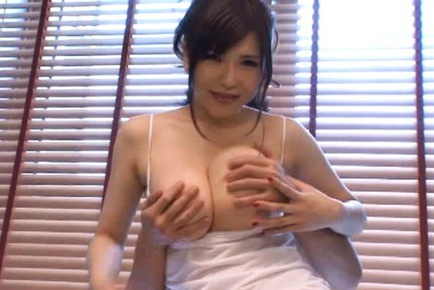 anri okita s huge tits bounce as she s fingered from behind