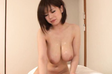 Sexy Asian milf Airu Oshima busty fuck with cum on her tits