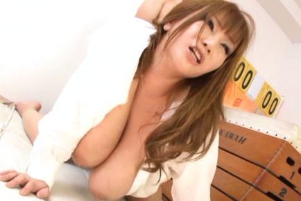 Two students fuck their Asian teacher Maria Yumeno