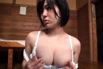 Busty Kazari Hanasaki uses sex toys for joy