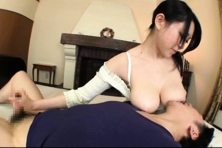 Steaming busty vixen Sena Minami gets her lovely tits licked