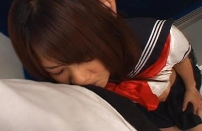 Minori Hatsumi Aian schoolgirl gets fucked in the subway