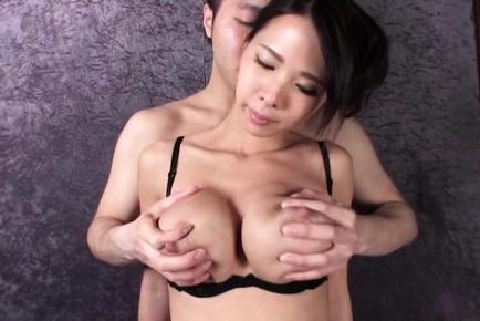 Gorgeous Asian babe Ema Kisaki with huge tits sprays milk