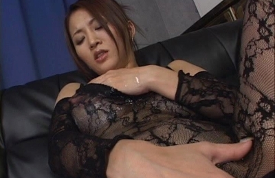 Yuki Touma Lovely Asian doll is enjoying masturbation