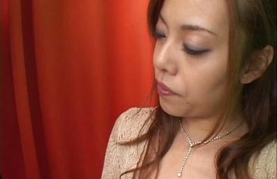 Jun Rukawa Cute Asian lady is enjoying sucking on two cocks