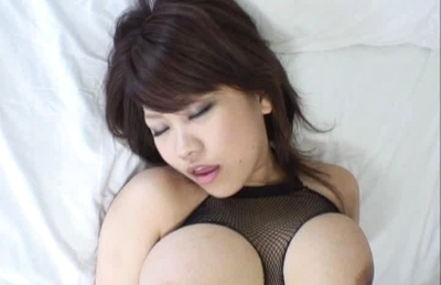 Miu Satsuki Asian doll has huge hooters and gets poked by two men
