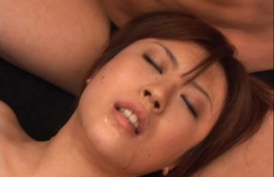 Nana Aoyama Hot Asian lady is horny and playing with three cocks