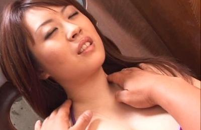 Nana Aoyama Naughty Asian babe enjoys fucking and sucking cock for a faceful of cum